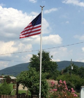 The American Tradition, Residential Flagpole Roanoke Virginia
