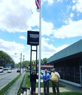 Happy Customers Cadillac Roanoke Flag Pole