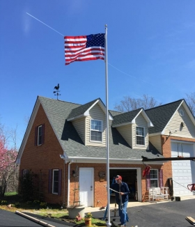 25' Flagpole Happy Customer Bedford Virginia