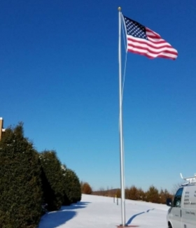 40-ft-esr-flagpoles-Altavista Virginia