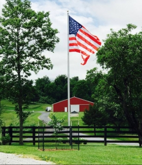 40-ft-esr-flagpole-Lexington Virginia
