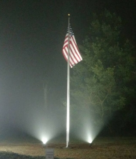 Lighted-Flagpole Lynchburg Virginia